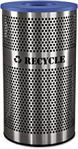 Ex-Cell Kaiser VCR-33 PERF SS Venue Collection Outdoor Perforated Stainless Steel Recycle Receptacle, 33 Gallon Capacity, 18-1/4