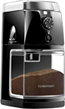 Chefman Coffee Grinder Electric Burr Mill - Freshly Grinds Up to 2.8oz Beans, Large Hopper with 17 Grinding Options for 2-...