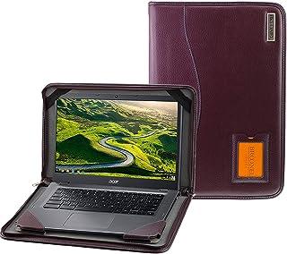 Broonel - Serie Contour - Funda Protectora De Cuero Púrpura De Alta Resistencia Compatible con La Acer TravelMate X514-51
