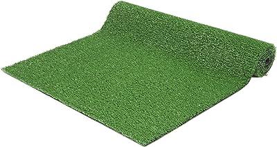 """Ottomanson Evergreen Artificial Turf Runner Rug, 2'7"""" x 9'10"""", Green"""