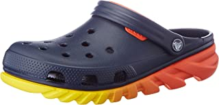 Crocs - Unisex Adult Duet Max Ombre Clog, Size: 4 D(M) US Mens / 6 B(M) US Womens, Color: Navy/Orange