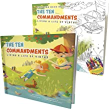 The Ten Commandments Life of Virtue & Bible Coloring Book Edition for Kids - Children's Activity Book w/ Illustration & Rhymes to Bring God's Laws to Life