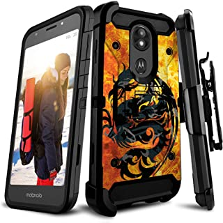 Untouchble   Holster Case for Motorola Moto E5 Plus/Moto E5 Supra, Heavy Duty [Tank Series] Built Tough Triple Protection ...