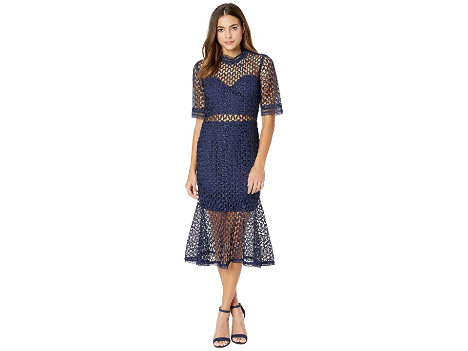 Bardot Fiona Mesh Dress (Patriot Blue) Women