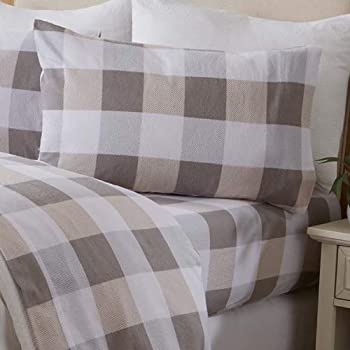 Amazon Com Eddie Bauer Flannel Collection 100 Premium Cotton Bedding Sheet Set Pre Shrunk Brushed For Extra Softness Comfort And Cozy Feel Queen Edgewood Plaid Home Kitchen