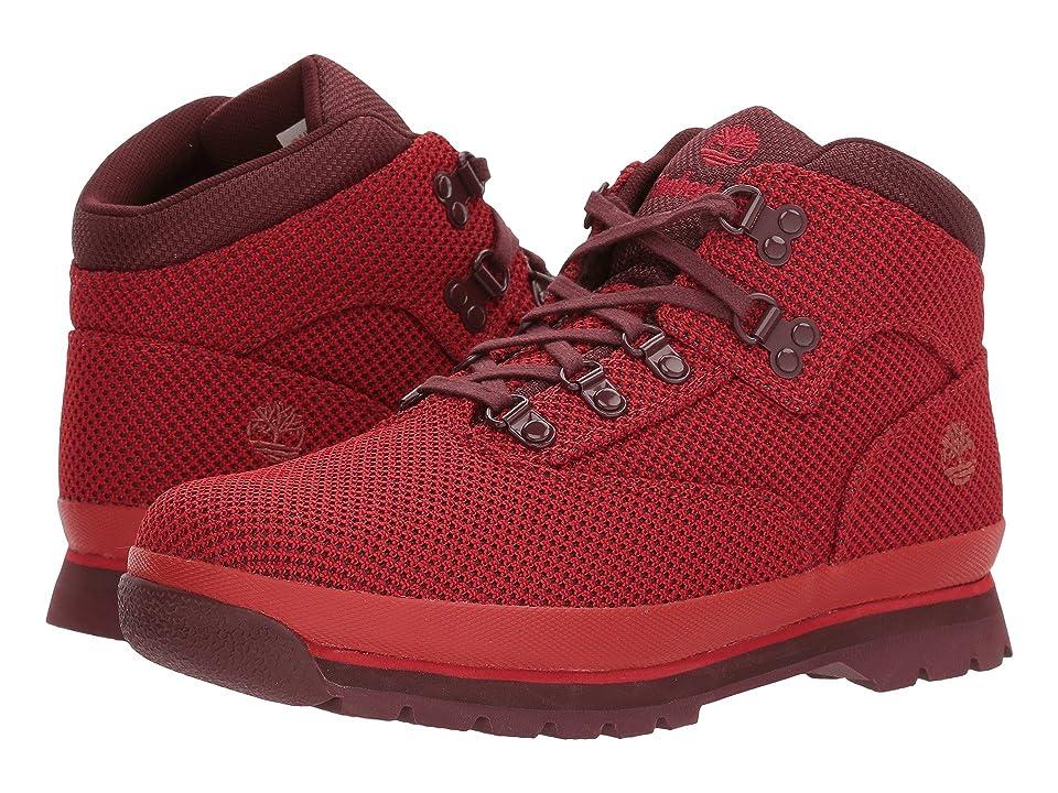 Timberland Kids Fabric Euro Hiker (Big Kid) (Haute Red) Kids Shoes