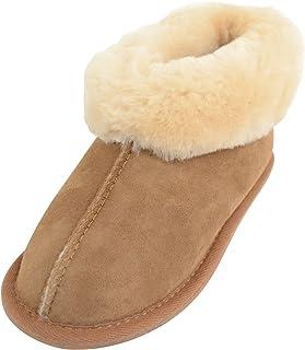 SNUGRUGS Chaussons chauds 100 % peau de mouton pour enfants/filles