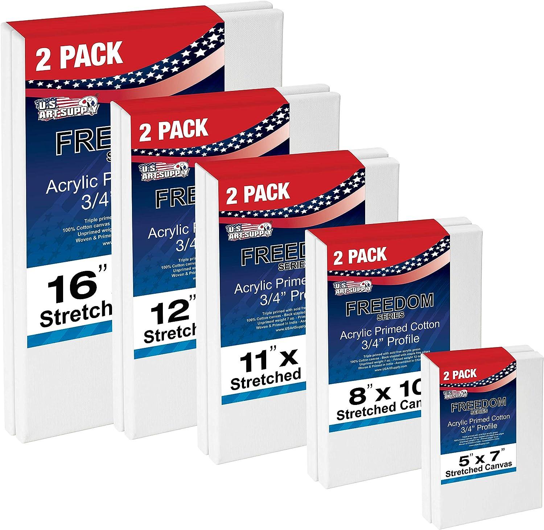 US Art Supply Multi-Pack Max 84% OFF 2-Ea of 5x7 16x20. 11x14 12x16 free 8x10