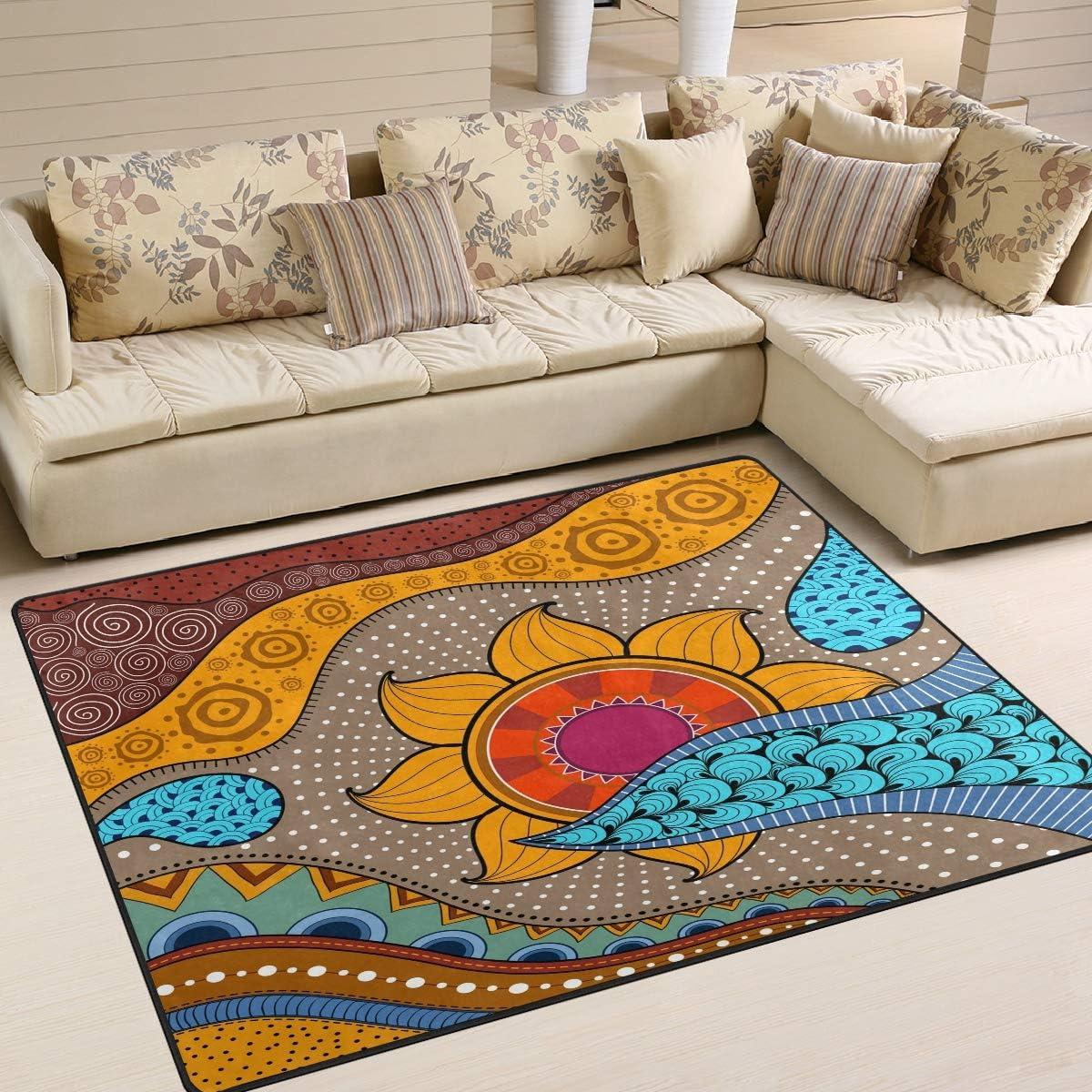 Naanle Africa Non Slip Area Rug 人気ブランド多数対象 至上 Living Bedroom for Dinning Room