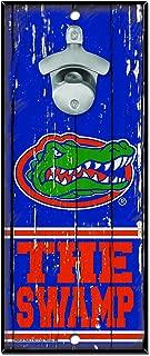 WinCraft NCAA Florida Gators Wood Bottle Opener Sign, 5 x 11, Multicolor