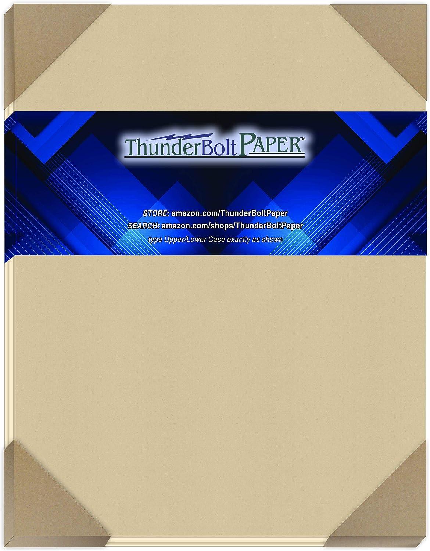 50 Desert Tan Fiber Fresno Mall Finish Cardstock Paper - Inc 11 Sheets Max 64% OFF X 8.5