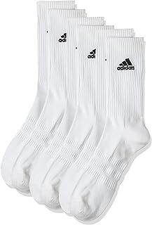 Adidas Men's CUSH CRW 3PP Socks,white/White/Black, KL