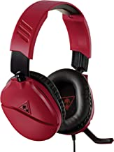Turtle Beach Recon 70N Midnight Red Gaming Headset for Nintendo Switch, PS4, Xbox One And PC