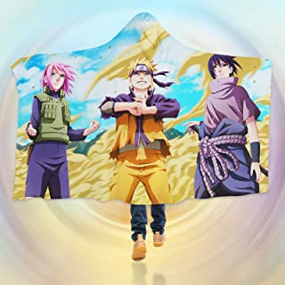 "AJ WALLPAPER 3D Naruto 137 Hooded Blanket Cloak Japan Anime Japanese Cosplay Game US Onion (L: 150x200cm(59""x78""))"