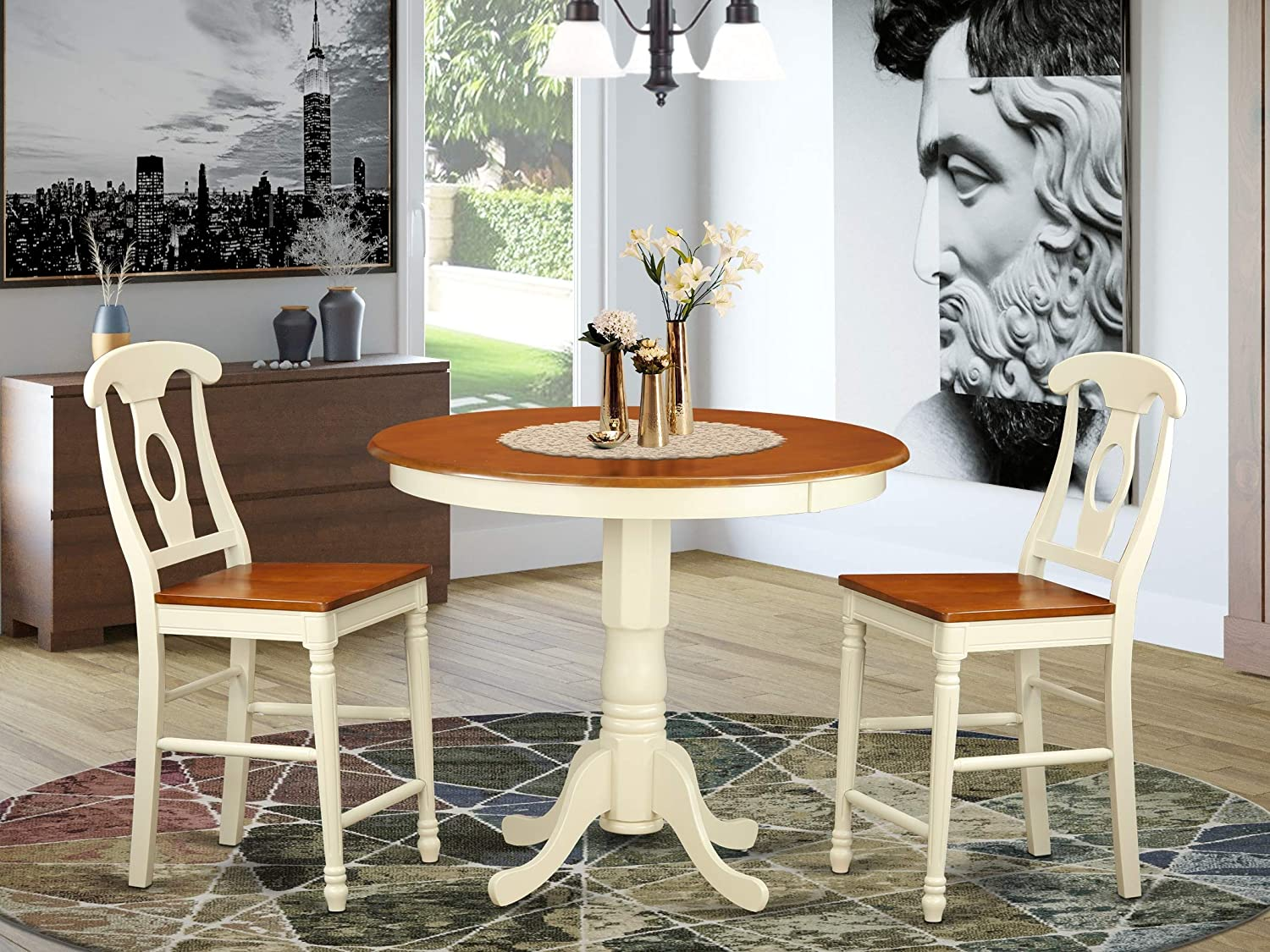 3 Pc counter height Dining room set 2 and top high count Table wholesale - Finally resale start