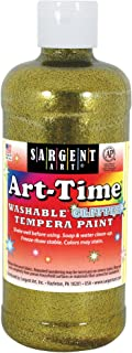 Sargent Art 17-3781 16 Ounce Art-Time Washable Glitter Tempera Paint, Gold
