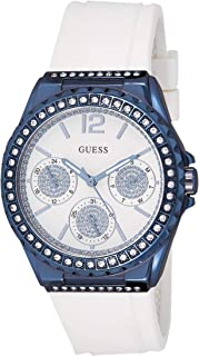 Guess Women's Silver Dial Rubber Band Watch - W0846L7