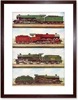The Art Stop Transport Vintage Painting Train Engine LOCOMOTIVES Steam Framed Print F97X3701
