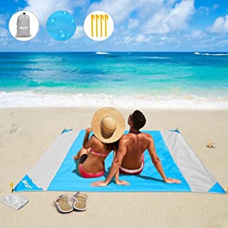 OUSPT Beach Blanket, Sand Free Picnic Outdoor Mat- Large 78'' x 82''..