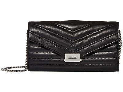 AllSaints Justine Chain Wallet (Black) Handbags