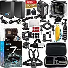 GoPro HERO7 Black Deluxe Bundle Includes: SanDisk Extreme 32GB microSDXC Memory Card + Replacement Battery + Underwater Housing & LED Light + Carrying Case and More