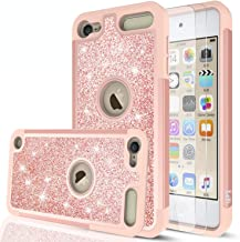 iPod Touch 7 Case, iPod Touch 6 Case, iPod Touch 5 Case with Tempered Glass Screen Protector [2 Pack] for Girls Women,LeYi...