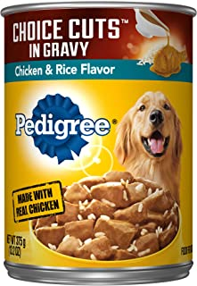 Pedigree Choice Cuts In Gravy Adult Wet Dog Food, 13.2 Oz. Cans Chicken & Rice