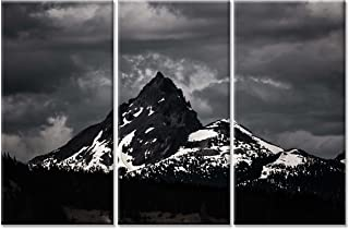 Canvas Wall Art Paintings For Home Decor Black And White Scenery Picture 3 Pieces Modern Giclee Framed Nature Artwork The Pictures For Living Room Decoration Mountain Photo Prints On Canvas