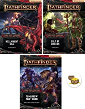 AMA Bundle of Pathfinder (P2) Adventure Path Age of Ashes 1 to 3 Plus a Treasure Chest Button