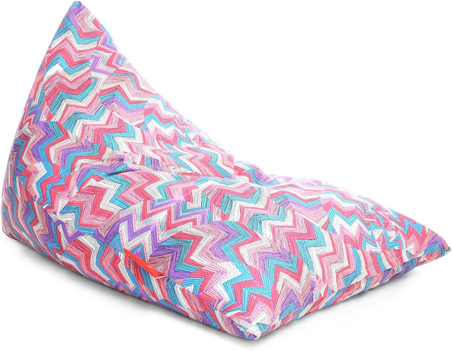 Style Homez Lounge Pyramid Cotton Canvas Geometric Printed Bean Bag XXL Size Cover Only