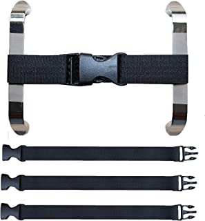 Multi-Functional Magic Buckle, Baby Safety Lock for The Door, Two-Door Refrigerator, Oven and Children's Safety Fence, Etc, or for The Fixed Baby Luggage (3 Pack Black)