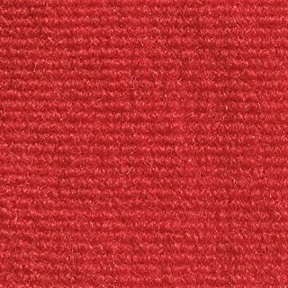 House, Home and More Indoor Outdoor Carpet with Rubber Marine Backing - Red - 6 Feet x 10 Feet