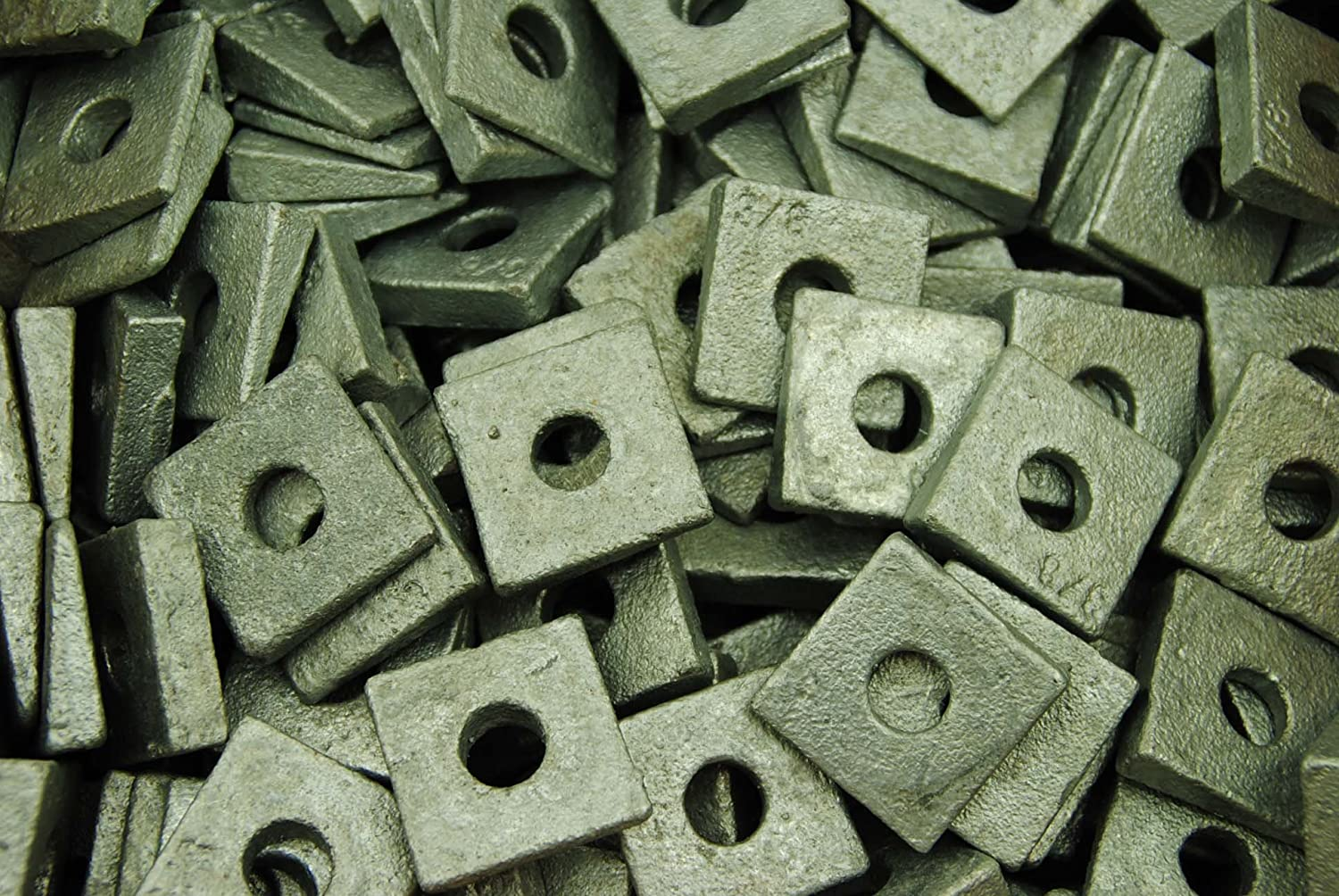 50 Galvanized Malleable 3 8 Bevel Square I-Beam Free Shipping Cheap Bargain Gift Flange Inventory cleanup selling sale Washers