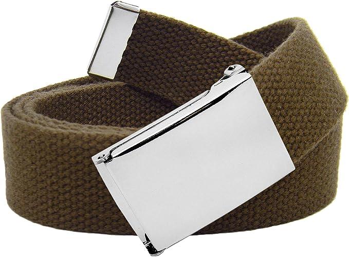 72 opinioni per Cintura in tela classica in stile militare con fibbia a scatto colore argento,