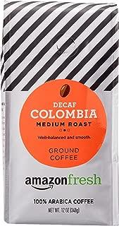 AmazonFresh Decaf Colombia Ground Coffee, Medium Roast, 12 Ounce