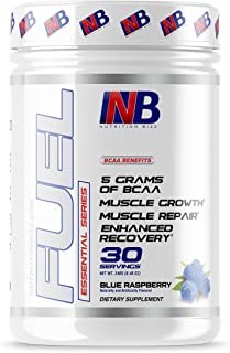NutritionBizz BCAA Powder, 5 Grams of BCAAs Amino Acids, Post Workout Recovery Drink for Muscle Building, Recovery, and En...
