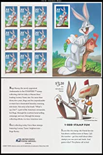 Scott 3138: Bugs Bunny Pane of 10 Stamps with Imperforate 10th Stamp