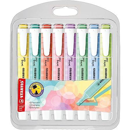 Surligneur - STABILO swing cool Pastel Edition - Pochette x 8 surligneurs - Coloris assortis