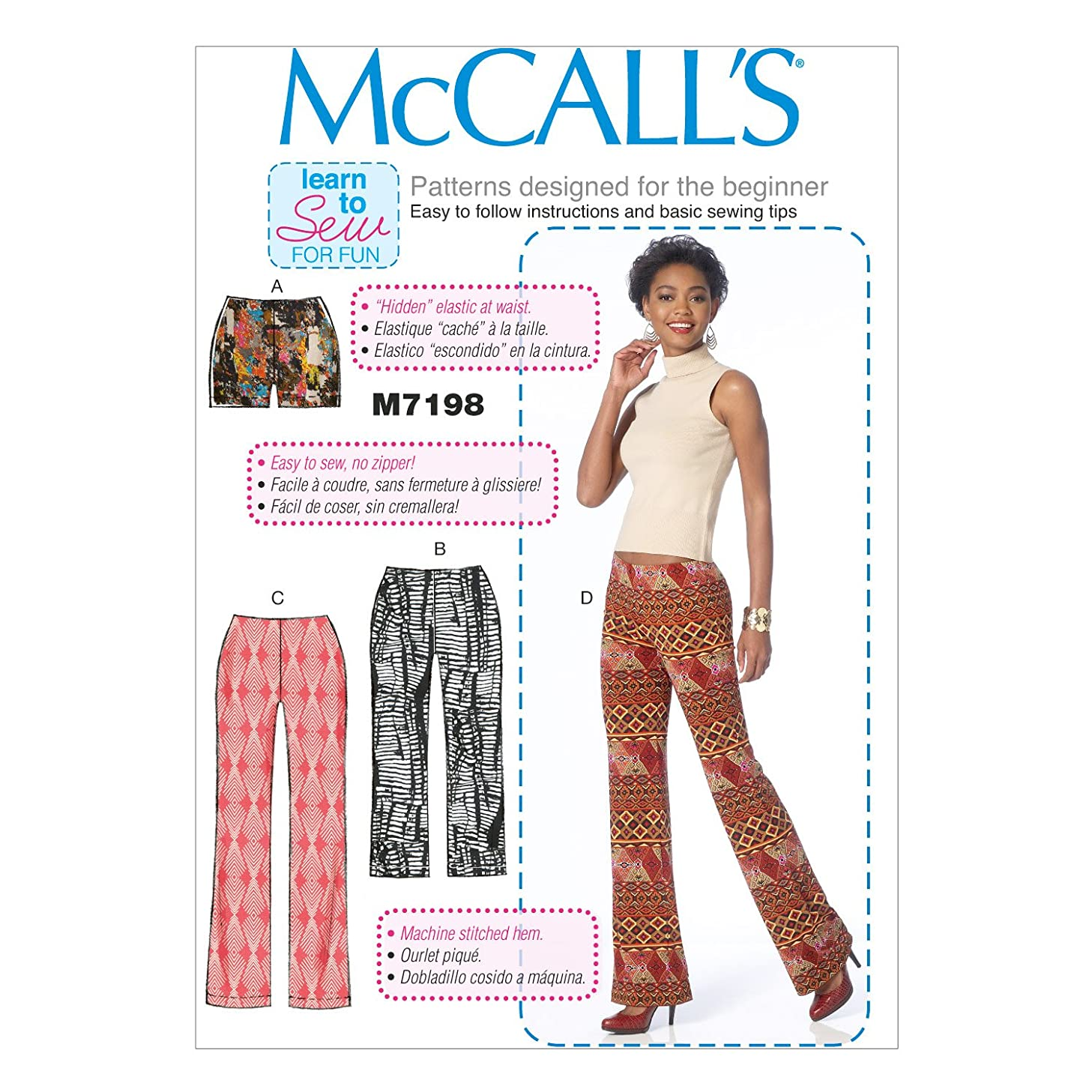 McCall's Patterns M7198 Misses' Shorts and Pants Sewing Template, E5 (14-16-18-20-22)