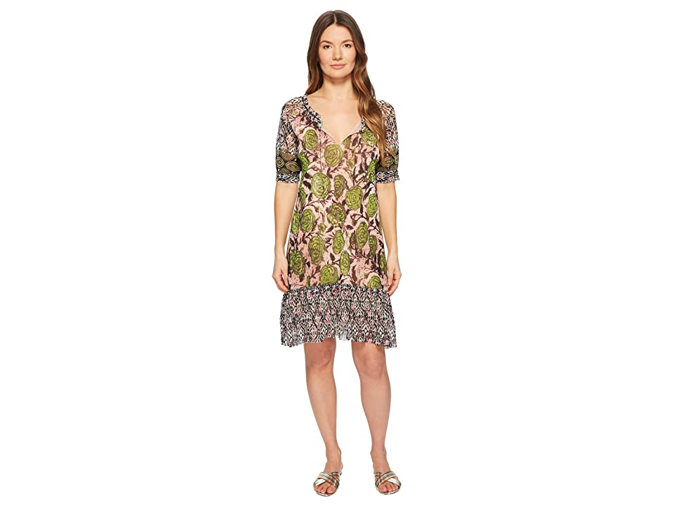 FUZZI Patchwork T-Shirt Dress (Petalo) Women