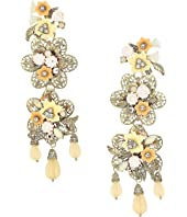 Marchesa - Force of Nature Chandelier Floral Earrings