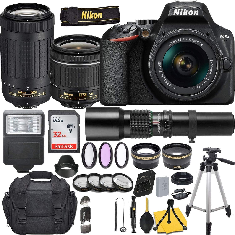 Nikon D3500 San Antonio Mall DSLR Camera with AF-P V DX Max 56% OFF 3.5-5.6G NIKKOR 18-55mm f