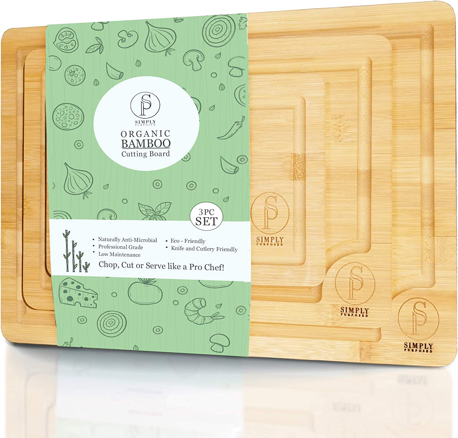Simply Purposed Overseas parallel import regular item Bamboo Cutting Board Cho Wood – All Natural Deluxe