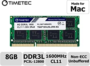 Timetec Hynix IC 8GB Compatible for Apple DDR3L 1600MHz PC3L-12800 SODIMM Memory Upgrade for Early/Mid/Late 2011, Mid/Late 2012, Early/Late 2013, Late 2014, Mid 2015 MacBook Pro, iMac, Mac Mini (8GB)