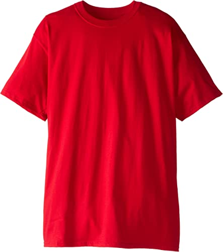 Hanes Hommes's Tall manche courte Beefy-T, Deep rouge, X-grand Tall (Pack of 2)