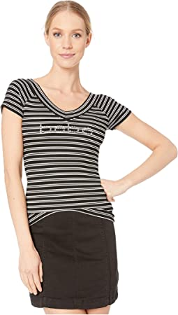 Black Yummy Stripe Rib