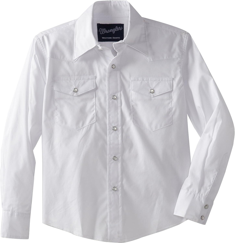 Wrangler Big Boys' Dress Western Solid Snap Shirt