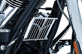 Kuryakyn 5640 Motorcycle Engine Accent Accessory: Oil Cooler Cover for 2014-19 Indian Motorcycles, Chrome