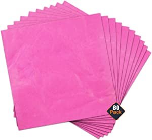 Premium Paper Napkins Beverage Napkins - 80 Pc Bulk Paper Dinner Napkins for Everyday Use, Summer Parties, Spring Parties, Dinner Parties, and More (Pink Party Supplies, 13