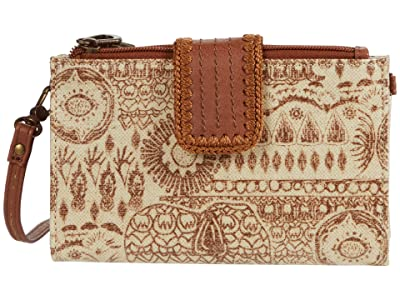 Sakroots Olympic Smartphone Crossbody (Tobacco Batik World) Handbags